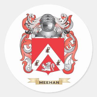 Escudo de armas de Meehan (escudo de la familia) Pegatina Redonda