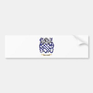 Escudo de armas de Melendez (escudo de la familia) Pegatina De Parachoque