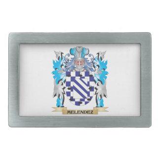 Escudo de armas de Melendez - escudo de la familia Hebillas De Cinturón Rectangulares