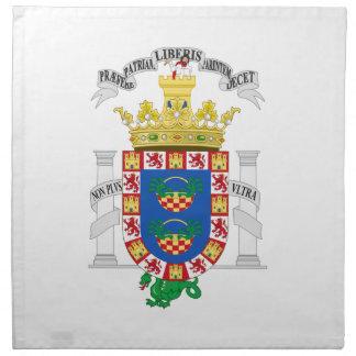 Escudo de armas de Melilla (España) Servilletas Imprimidas