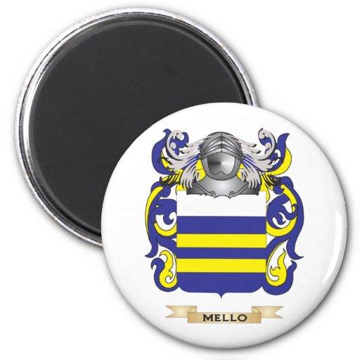 Escudo de armas de Mello (escudo de la familia) Imanes