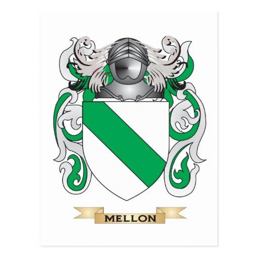 Escudo de armas de Mellon (escudo de la familia) Tarjetas Postales