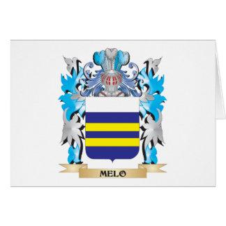 Escudo de armas de Melo - escudo de la familia Tarjeta Pequeña