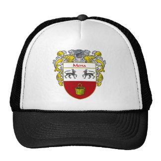 Escudo de armas de Mena (cubierto) Gorro De Camionero