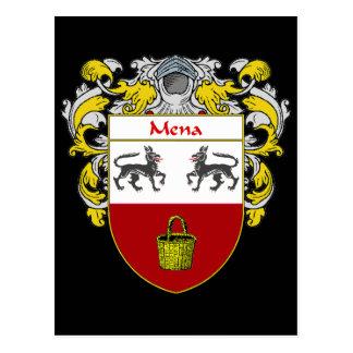 Escudo de armas de Mena (cubierto) Postal