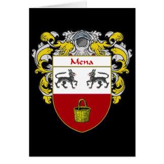 Escudo de armas de Mena (cubierto) Tarjeta De Felicitación