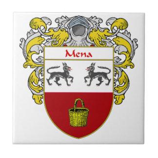 Escudo de armas de Mena/escudo de la familia Azulejo Cuadrado Pequeño