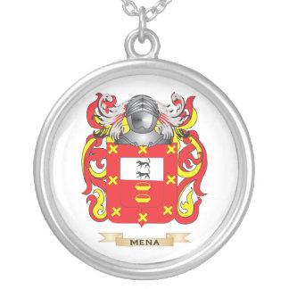 Escudo de armas de Mena (escudo de la familia) Colgante Redondo