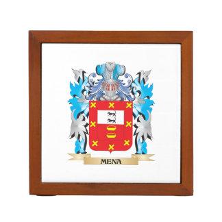 Escudo de armas de Mena - escudo de la familia Organizador De Escritorio