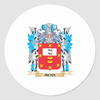 Escudo de armas de Mena - escudo de la familia Pegatina Redonda