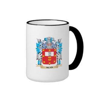 Escudo de armas de Mena - escudo de la familia Taza De Dos Colores