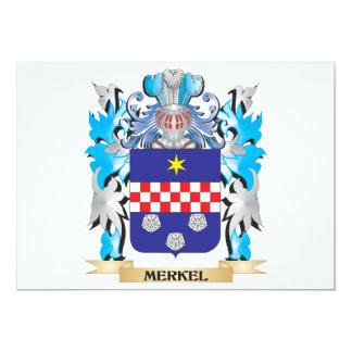 Escudo de armas de Merkel - escudo de la familia Invitación 12,7 X 17,8 Cm