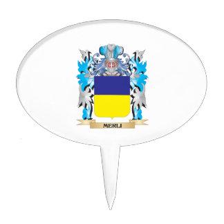 Escudo de armas de Merli - escudo de la familia Figuras De Tarta