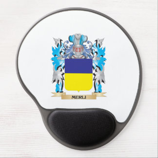 Escudo de armas de Merli - escudo de la familia Alfombrilla De Raton Con Gel