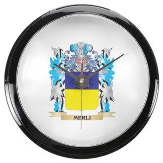 Escudo de armas de Merli - escudo de la familia Reloj Aquavista