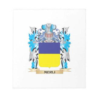 Escudo de armas de Merli - escudo de la familia Blocs De Papel