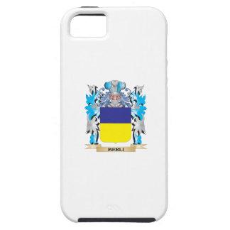Escudo de armas de Merli - escudo de la familia iPhone 5 Case-Mate Funda
