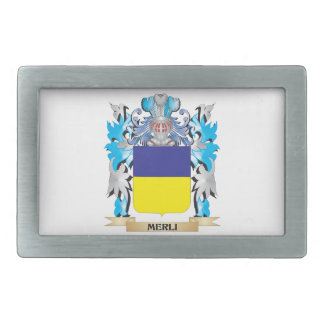 Escudo de armas de Merli - escudo de la familia Hebilla De Cinturon Rectangular