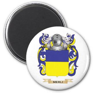 Escudo de armas de Merli (escudo de la familia) Imán Para Frigorifico