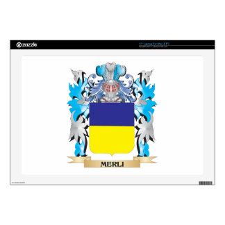 Escudo de armas de Merli - escudo de la familia Calcomanía Para Portátil