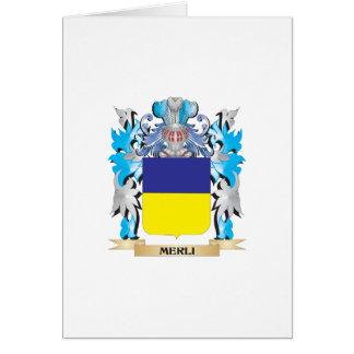 Escudo de armas de Merli - escudo de la familia Tarjeton