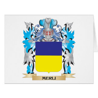 Escudo de armas de Merli - escudo de la familia Tarjetas