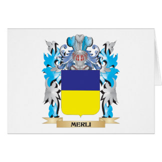 Escudo de armas de Merli - escudo de la familia Tarjeta