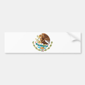 Escudo de armas de México Etiqueta De Parachoque