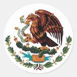 Escudo de armas de México Etiqueta Redonda