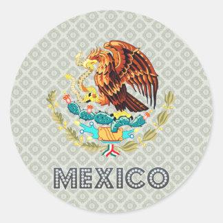 Escudo de armas de México Pegatina Redonda