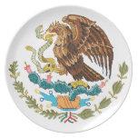 escudo de armas de México Plato Para Fiesta