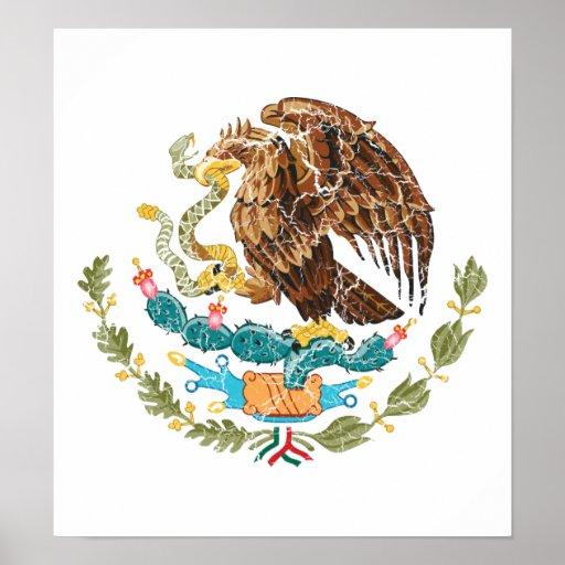 Escudo de armas de México Póster