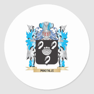 Escudo de armas de Micale - escudo de la familia Pegatina Redonda
