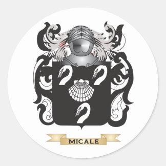 Escudo de armas de Micale (escudo de la familia) Etiqueta Redonda