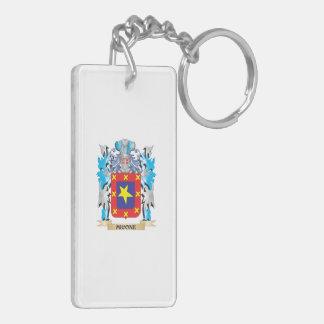 Escudo de armas de Micone - escudo de la familia Llavero Rectangular Acrílico A Doble Cara