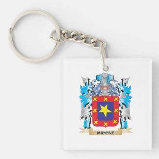 Escudo de armas de Micone - escudo de la familia Llavero Cuadrado Acrílico A Una Cara