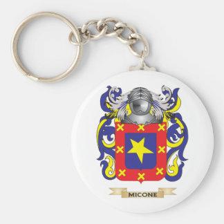 Escudo de armas de Micone (escudo de la familia) Llaveros Personalizados