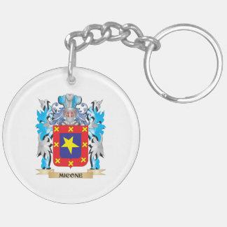 Escudo de armas de Micone - escudo de la familia Llavero Redondo Acrílico A Doble Cara