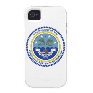 Escudo de armas de Micronesia iPhone 4 Carcasa