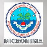 Escudo de armas de Micronesia Posters