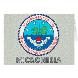Escudo de armas de Micronesia Tarjeta De Felicitación