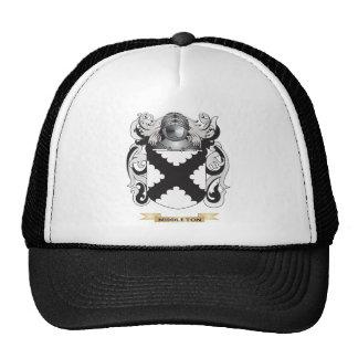 Escudo de armas de Middleton (escudo de la familia Gorras