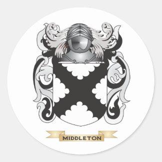 Escudo de armas de Middleton (escudo de la Pegatina Redonda