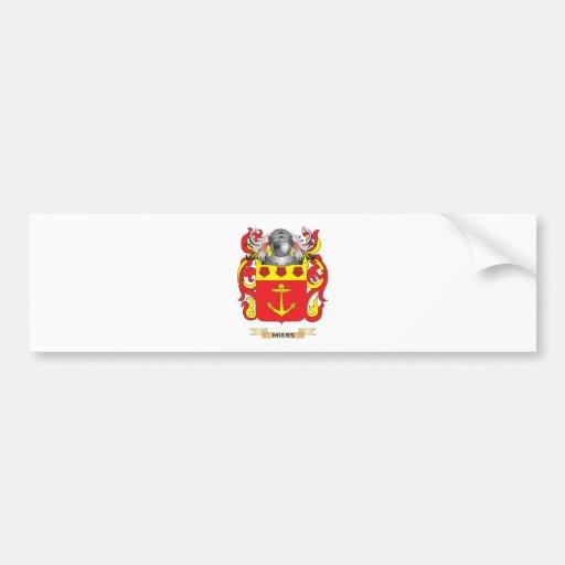 Escudo de armas de Miers (escudo de la familia) Pegatina Para Auto