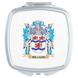 Escudo de armas de Milligan - escudo de la familia Espejos Maquillaje