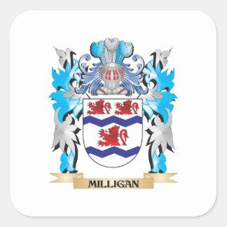 Escudo de armas de Milligan - escudo de la familia Pegatina Cuadrada