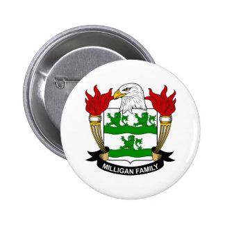 Escudo de armas de Milligan/escudo de la familia Pin Redondo De 2 Pulgadas