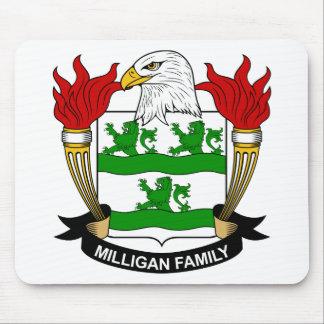 Escudo de armas de Milligan/escudo de la familia Alfombrillas De Raton