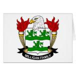 Escudo de armas de Milligan/escudo de la familia Tarjetón