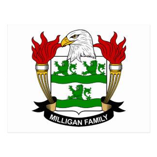 Escudo de armas de Milligan/escudo de la familia Postal